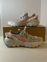 Authentic- Nike Space Hippie 04 White Grey Orange Mens 11.5 (wmns 13) BRAND NEW✅