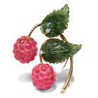 Lamponi! Divertenti vintage SPILLA: Tormalina, Nefrite & Oro a 1960 Raspberry