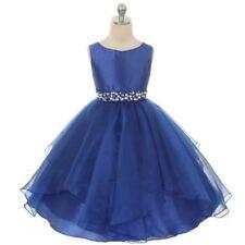 Beautiful dark blue satin & chiffon dress with sparkly waist details. BNWT.