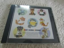 Janome Baby Animal Memory Embroidery Card Exc Pre-Own Cute Baby/Children Designs