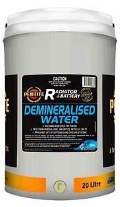 Penrite Demineralised Water 20L fits Jensen Healey 100 BN1, 100 BN2, 100/6, 2...