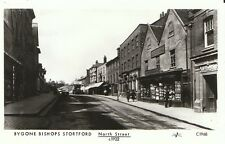 Hertfordshire Postcard - Bygone Bishops Stortford - North Street c1922  - A5413