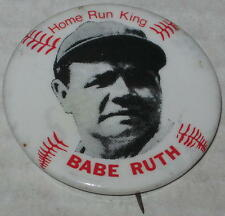 "1980's 1.75"" Home Run King Babe Ruth Pin"