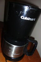CUISINART DCC-450 STAINLESS STEEL 4 CUP COFFEE MAKER W STAINLESS STEEL CARAFE