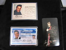 ELVIS PRESLEY   Blue DRIVER LICENSE Souvenir 3 Card Lot