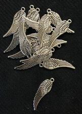 Tibetan Silver Angel Wings Charm / Pendant x 15
