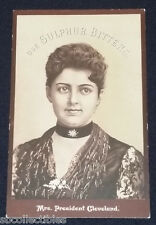 1890'S - VICTORIAN TRADE CARD - SULPHUR BITTERS - MRS PRESIDENT CLEVELANDS