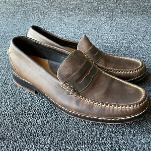 Men's Cole Haan Brown Leather NikeAir  Moc Toe Loafer Shoes Size 8.5