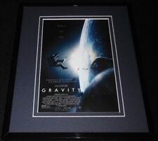 Gravity Framed 8x10 Repro Poster Display Sandra Bullock George Clooney