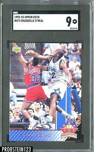 1992-93 Upper Deck NBA Top Prospects #474 Shaquille O'Neal RC Rookie HOF SGC 9