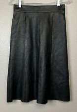 Nordstrom Signature Womens Fit and Flare Skirt Black Size 4 High-Waisted   1855