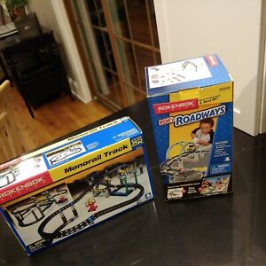 ROKENBOK SYSTEM MONORAIL TRACK 06310 & ROK'N ROADWAYS 04319 NEW IN BOX
