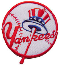 New MLB New York Yankees Logo Baseball embroidered iron on patch. 3 inch (i25)
