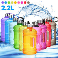 Large 2.2L Sports Training Gym Water Drinking Bottle Camping Cap Kettle BPA