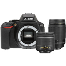 Nikon D5600 24.2 MP Digital SLR Camera with 18-55mm and 70-300mm  Lens