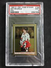1982 O-Pee-Chee OPC Stickers All Stars Ray Bourque FOIL PSA 9 MINT
