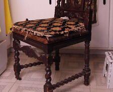 19C English Jacobean Carved Oak Demon/Devil/Gargoyle/Grotesque Chair