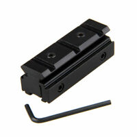 Tactical 11mm to 20mm Picatinny Weaver Scope Dovetail Rail Adapter Mount Base #