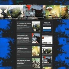 PAINTBALLING SHOP - Home Based Make Money Website Business For Sale + Domain