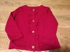 NWT Gymboree Star of the Show Pink Ruffle Cardigan Jacket Gold Glitter Buttons 6