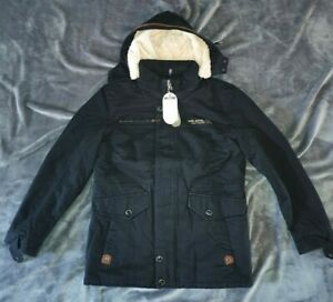 Damen Jacke Übergangsjacke Trenchcoat Kapuze 100% Baumwolle leicht kurz XL NEU