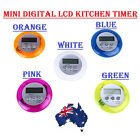 MINI KITCHEN DIGITAL LCD MAGNETIC COUNTDOWN TIMER COOKING ALARM