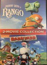 Rango / BarnYard (2 DVD Collection) Brand New SAME DAY SHIPPING