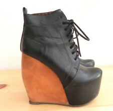c7ca080db9e Wild Pair Ankle Boots Rare Lace Up Black 5.5