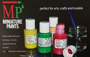 Miniature Paints Acrylic 30ml Art Paint Models Miniatures Figurines A
