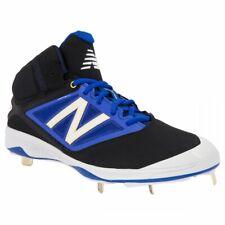 New Mens New Balance M4040BB3 Mid Metal Baseball Cleats Black / Blue Size 9.5 M
