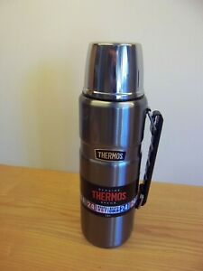 Thermos flask large gun metal grey, 1.2 litre, hot 24 hours cold 24 hours