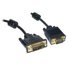2M DVI DVI-I DVI-A to SVGA VGA PC Monitor Cable Lead - GOLD