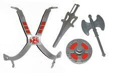 PRE-ORDER Vintage MOTU Custom GRAY HE-MAN CHEST ARMOR & WEAPONS SET Masters