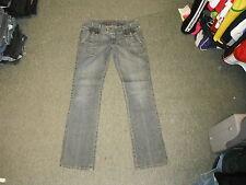 """CORLEONE coupe droite taille 34 """"Jambe 34"""" délavé dames jeans bleu foncé"""