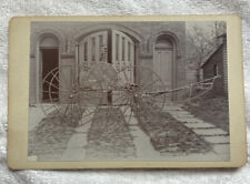 1870's Ross Fireman Hose Cart Black And White Photo