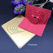 3D Heart Metal Cutting Dies Stencil Scrapbooking Cards Paper Embossing Craft DIY