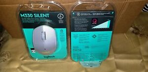 Logitech M330 Silent Plus Wireless Mouse, USB, Gray, Brand new & factory sealed