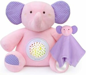 Pink Elephant Projection Soother with Light Projector & Sound Cry Sensor NEW
