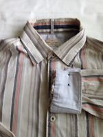 Tommy Bahama Mens Button Front Shirt  Flip Cuff L/S Medium Textured Striped