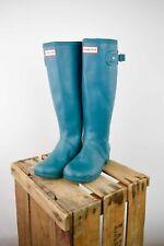 Botas Hunter Wellington en azul claro. tamaño de Reino Unido 4/EU 36.5/US 6