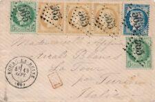 Lettre n°53x2,54 Bande et 60 CaD Bourg-la-Reine Hauts de Seine pour Turin Cover