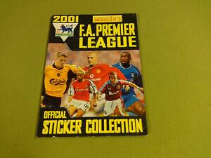 FOOTBALL STICKER COLLECTION ALBUM NOT COMPLETE/ MERLIN'S F.A PREMIER LEAGUE 2001