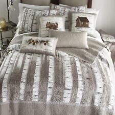 Donna Sharp Birch Forest Quilted Farmhouse Rustic Country King Quilt Gray White