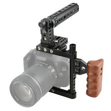 CAMVATE Camera Cage w/Top Handle Tripod Mount Plate for Canon Nikon Sony