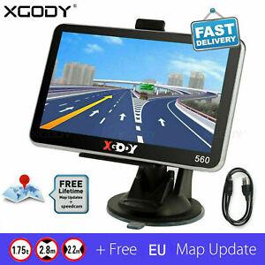 "5"" SAT NAV 8GB Car Truck HGV LGV GPS Navigation IE EU Lifetime Map POI XGODY 560"