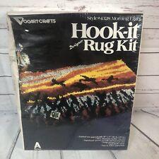 Vintage Nos Morning Flight Hook-it Rug Kit 20�x27� Birds Sunrise