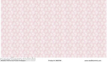 1:24 Scale Wallpaper Pink and White Floral - 3 Sheets - 0000784
