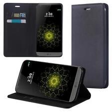 LG G5 Coque de Protection Carte Portefeuille Housse Etui Cover Case Noir
