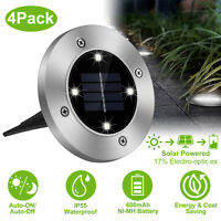 Waterproof Solar Power Disk Lights LED Buried Light Outdoor Under Ground Lamp