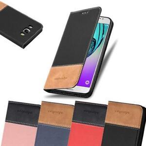 Handy Hülle für Samsung Galaxy J7 2016 Cover Case Tasche Etui Kunstleder kombina